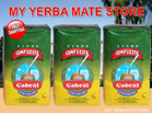 Cabral yerba mate Compuesta without Stems 3 Kilos