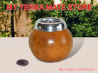 Aluminum Rim Natural Color Yerba Mate Gourd